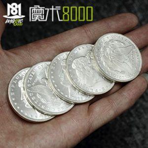 魔术8000 硬币魔术 全新摩根硬币(半银) 复古摩根硬币(半银)