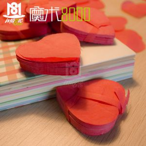 魔术8000 心形雪花纸 舞台魔术表演配件雪花飘纸魔术消耗品魔术用品专卖店