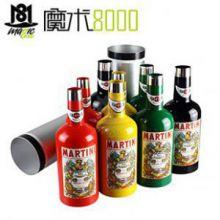 魔术8000 适合舞台互动的魔术 变酒瓶(彩色)双筒出酒瓶