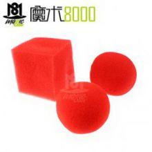 魔术8000 简单有趣的海绵类小魔术道具批发海绵球 两圆一方