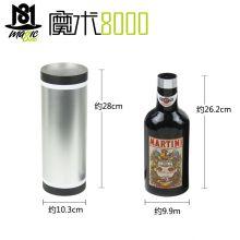 魔术8000 互动性强的魔术 变酒瓶(黑色)双筒出酒瓶