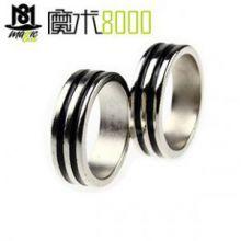 双圈黑色磁戒 强磁 磁力戒指 磁铁戒指